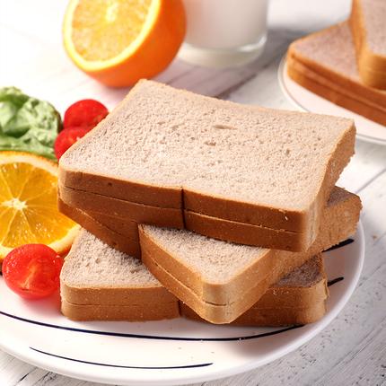紫薯全麦面包1kg营养早餐整箱零食无糖精0油吐司健身代餐饱腹粗粮
