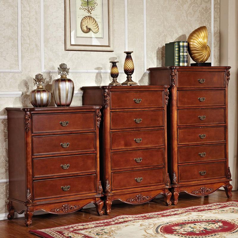 美式五斗柜 三斗四斗六斗橱 欧式客厅卧室收纳柜实木柜子床边柜