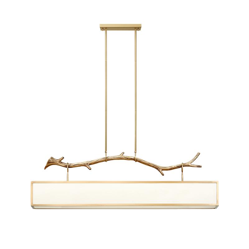 灯道夫新中式艺术设计师复古灯具中国风客厅灯餐厅灯铜艺布罩吊灯