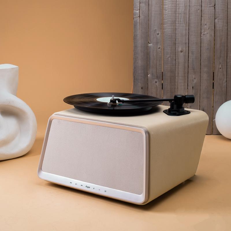 嘿哟hym-seed象牙白色黑胶唱片机wifi蓝牙音响黑胶LP电唱机留声机
