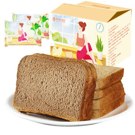 黑麦全麦面包营养早餐吐司粗粮代餐0无糖精食品脂肪热量零食整箱