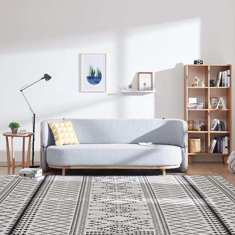 创兴隆沙发床可折叠客厅小户型实木多功能两用双人简约现代沙发