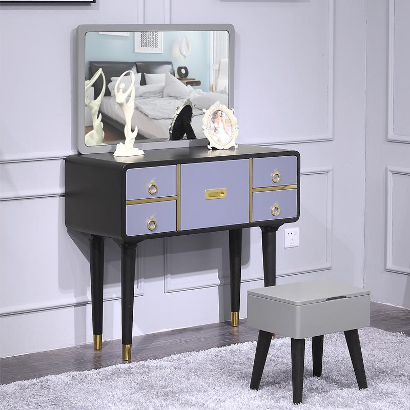 北欧简约小户型卧室ins网红梳妆台 经济型多功能简易迷你化妆桌柜