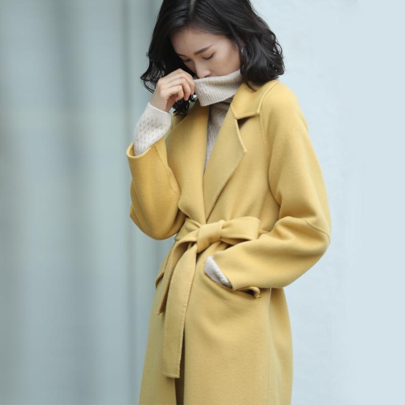 反季双面呢羊绒大衣女中长款2018新款韩版秋冬高端羊毛呢外套女装