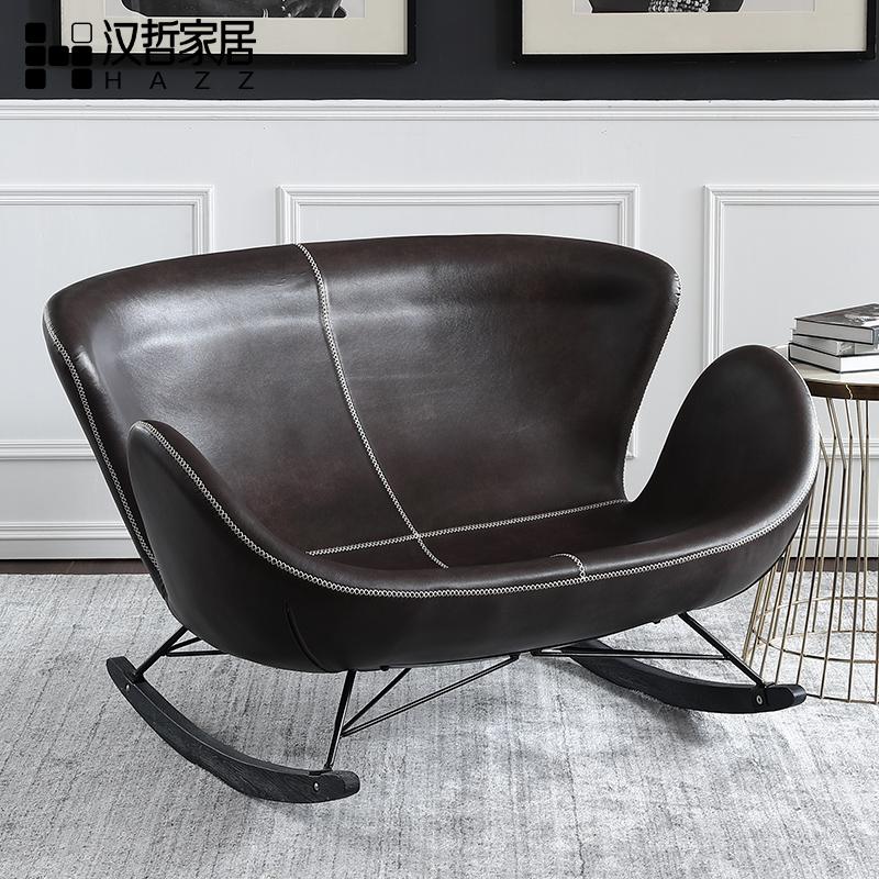 汉哲现代简约阳台卧室通用成人休闲椅北欧室内外午休情侣双人摇椅
