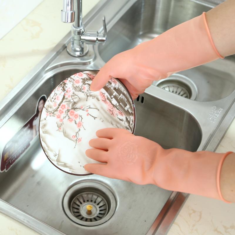 洗碗手套女家用厨房塑胶防水胶手套