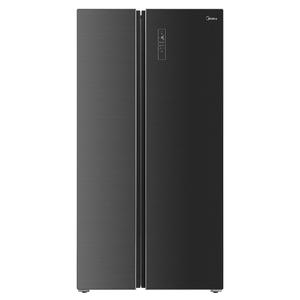 美的对开门家用净味杀菌双开门一级变频智能冰箱