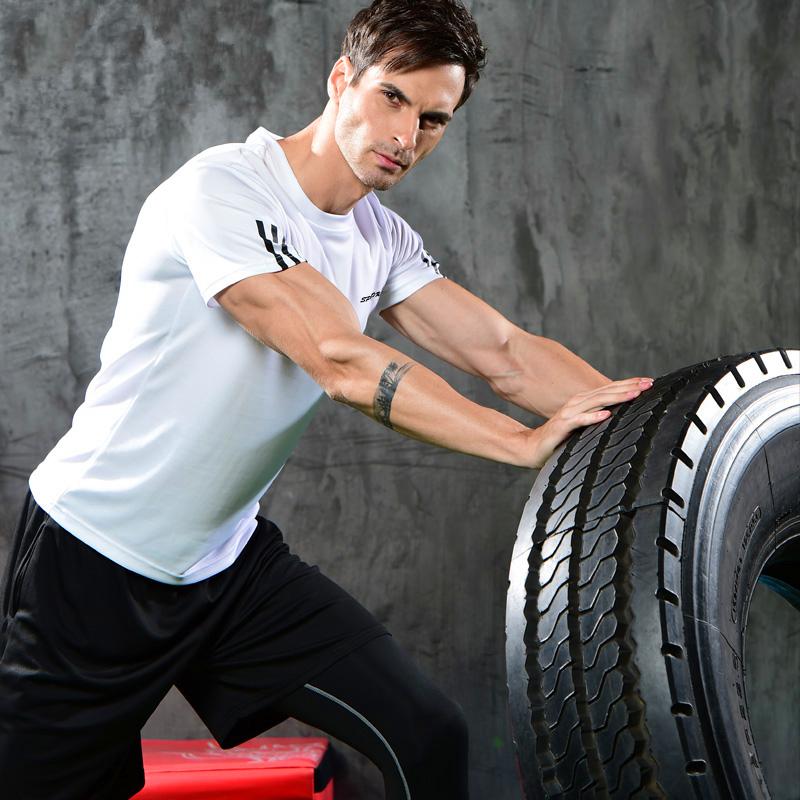跑步运动服套装男夏健身速干运动短袖套装男