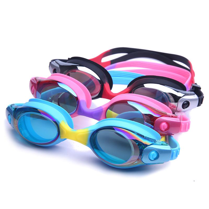 儿童泳镜男童大框高清防水防雾游泳透视眼镜女潜水镜游泳装备