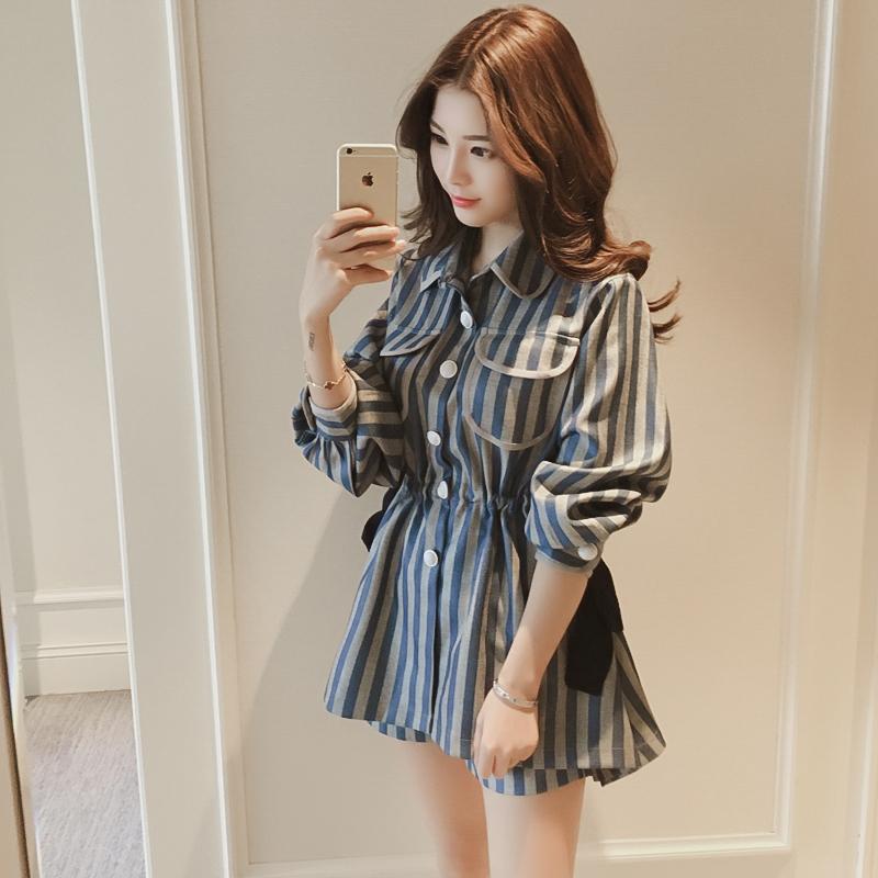 春装2018新款女省心搭配女装洋气小香风时髦套装韩版闺蜜装两件套