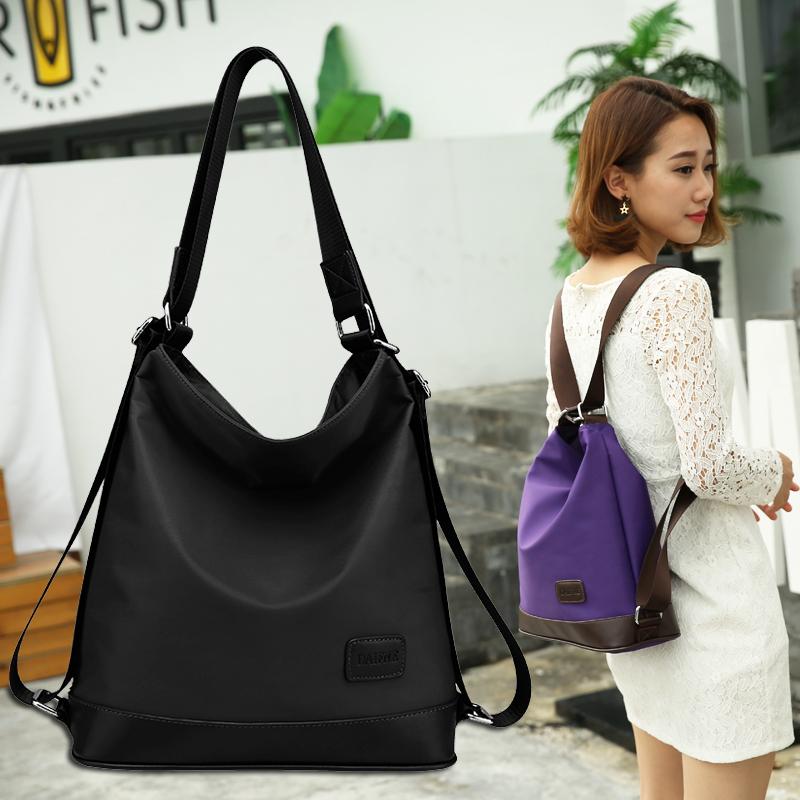2017新款尼龙女包韩版单肩双肩两用背包牛津纺帆布托特包包旅行包