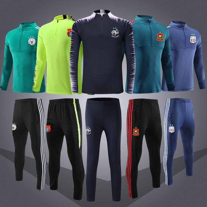 秋冬季足球训练服长袖运动套装足球队服收腿裤长裤青少年成人定制