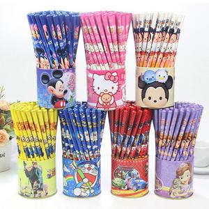 卡通筒装铅笔 花姑娘/托马斯多款图案72铁筒木质铅笔 不带橡皮