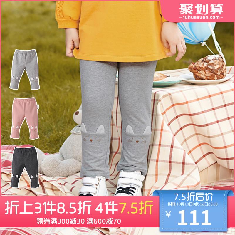 英氏女童长裤 薄款打底裤女宝春秋季休闲裤 187A5756