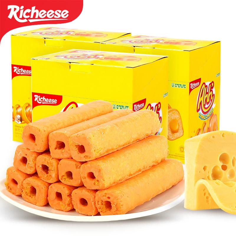 印尼进口 Richeese丽芝士雅嘉奶酪味玉米棒160g*3盒