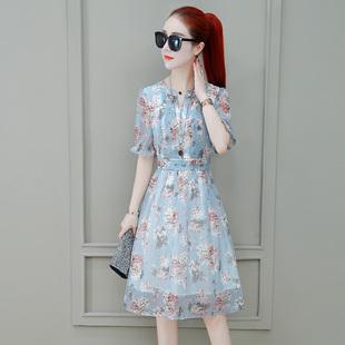 2020年夏季新款时尚雪纺连衣裙