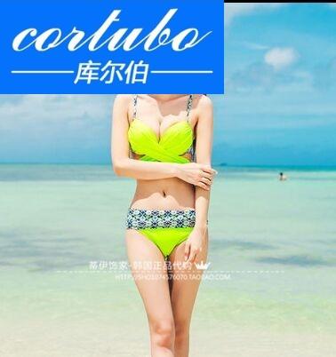 CORTUBO2017新款女士比基尼分体泳衣泳装小胸 游泳衣泡温泉 1604