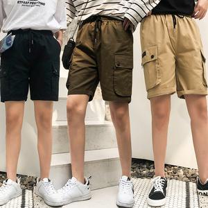 工短裤bf风外穿显瘦五分裤ins裤子休闲直筒裤