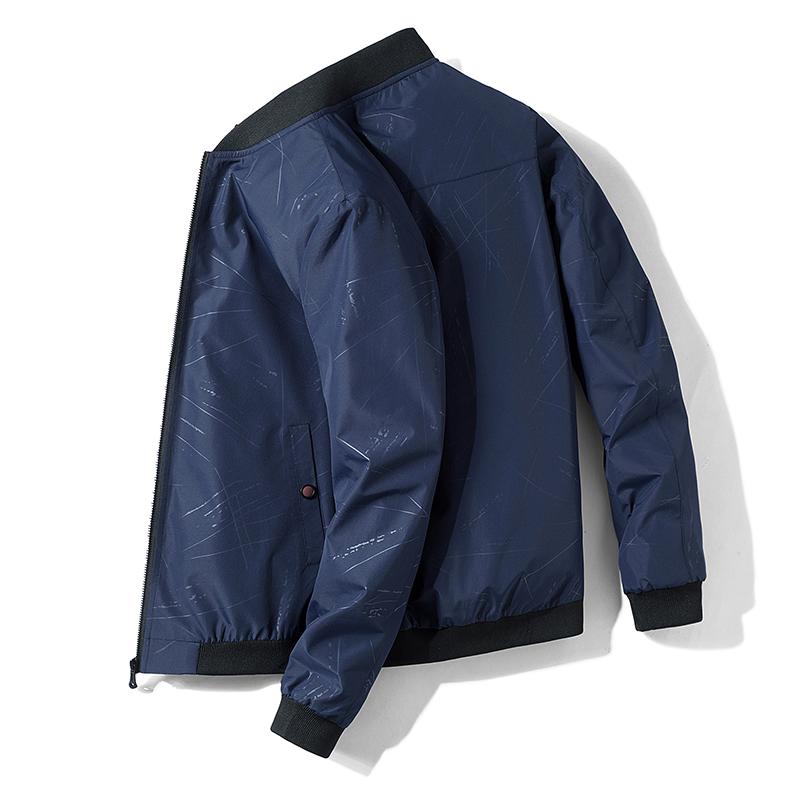 夹克男2021春季新款休闲运动上衣立领机车外套韩版潮流帅气男装