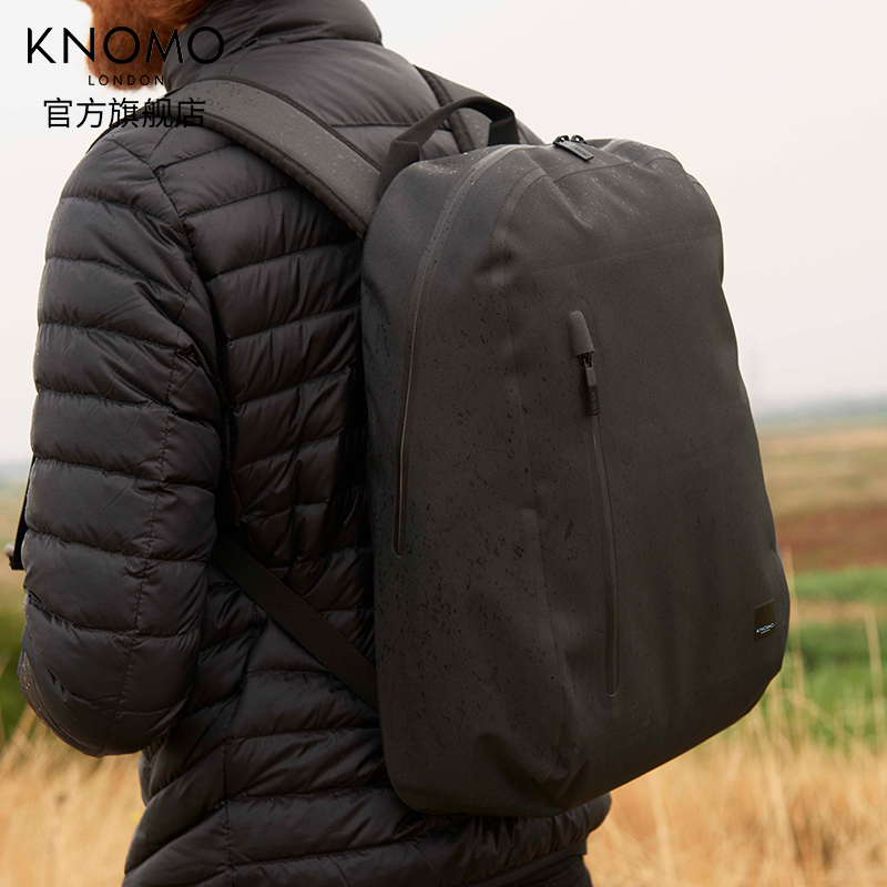 KNOMO英国Harpsden全防水包14寸电脑包英伦背包时尚英伦双肩包男