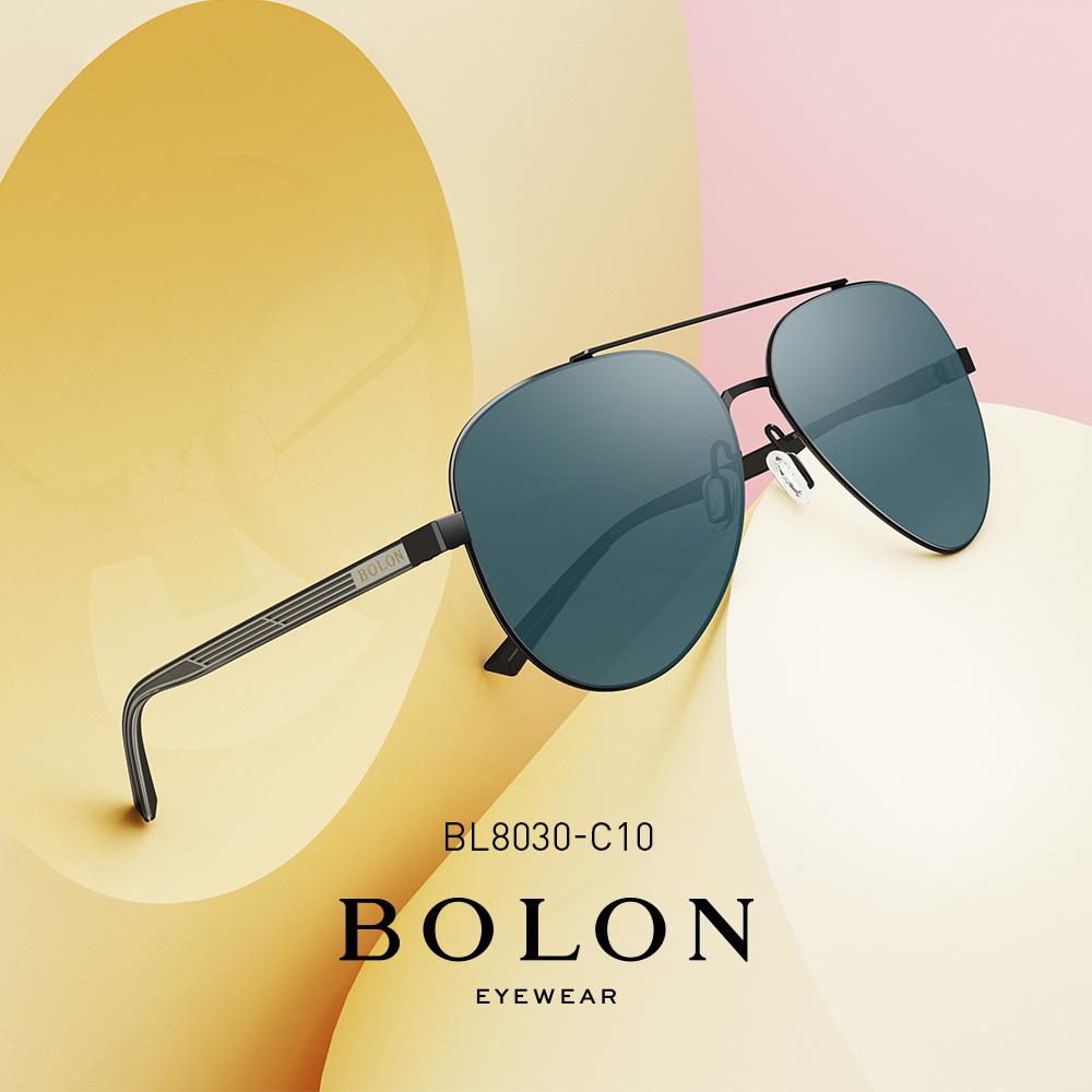 BOLON暴龙2018新款偏光复古蛤蟆镜男士太阳镜个性墨镜眼镜BL8030