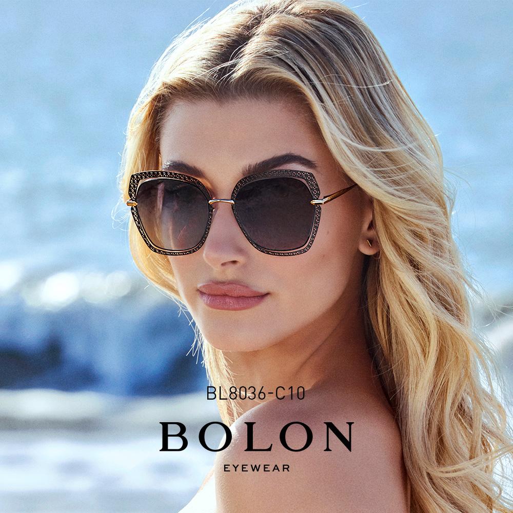 BOLON暴龙2018新款蝶形偏光太阳镜女士明星同款墨镜眼镜BL8036