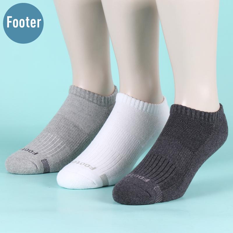 3双台湾防臭袜子男短袜加厚大码船袜纯棉袜男运动毛巾袜子抑菌