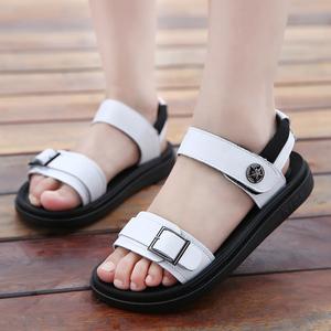 男童凉鞋2018夏季新款韩版儿童沙滩鞋中大童真皮软底宝宝小孩凉鞋