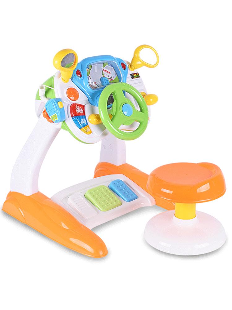 宝丽儿童方向盘玩具大号宝宝开车仿真驾驶汽车婴儿2岁男孩益智3-6