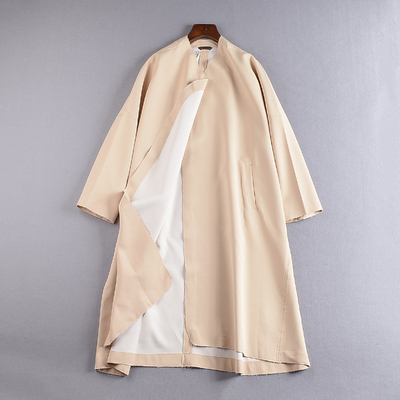 1.2 kg weight J @ 13 new Korean women's solid color non-buckle in the long trench coat outer tower
