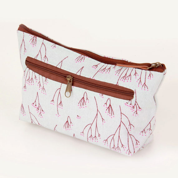 New ArrivalVintage Flower Floral Pencil Pen bag Cosmetic Mak
