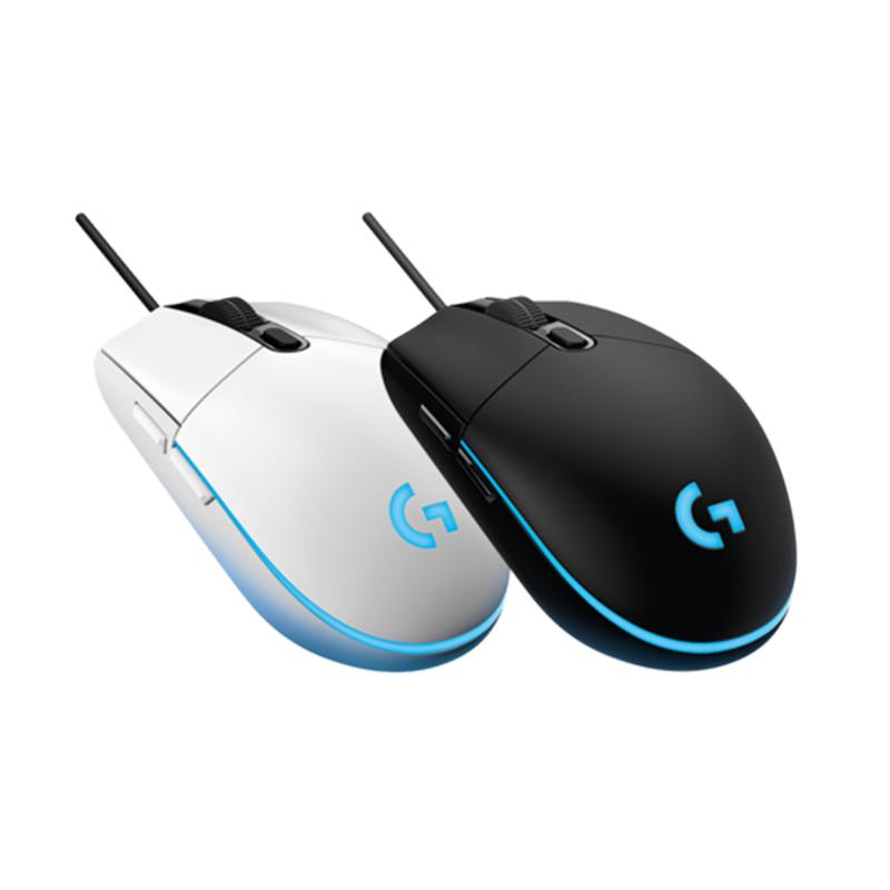 罗技鼠标G102有线游戏鼠RGB呼吸灯8000DPI电竞宏编程绝地求生-LOL