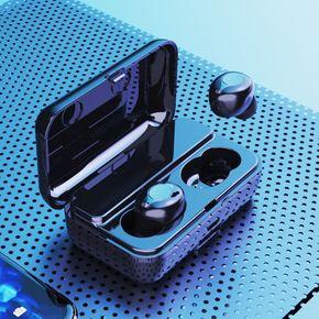 喜来喜F9 无线蓝牙耳机5.0双耳迷你隐形入耳式HIFI降噪重低音防水运动跑步开车音乐听歌男女苹果安卓通用电话