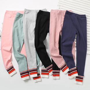 女童裤子春秋冬装儿童装宝宝打底裤薄绒外穿一体加绒加厚棉裤洋气