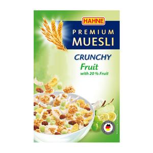 德国HAHNE汉尼麦片水果坚果香脆干吃麦片500g即食早餐进口麦片