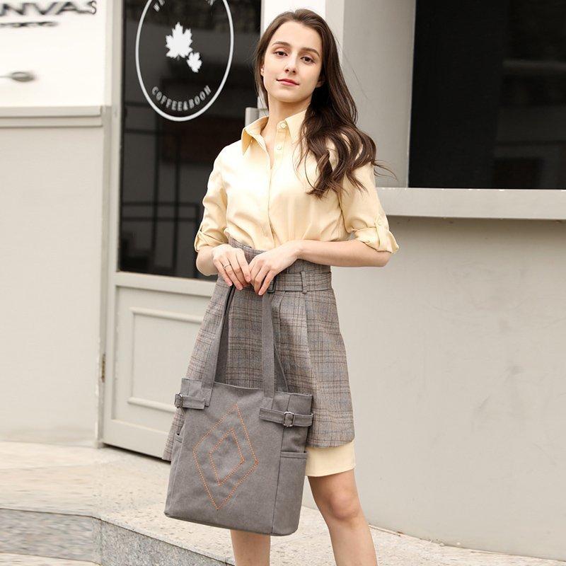 2021夏季新款女士包袋单肩手提单肩包拉链帆布包