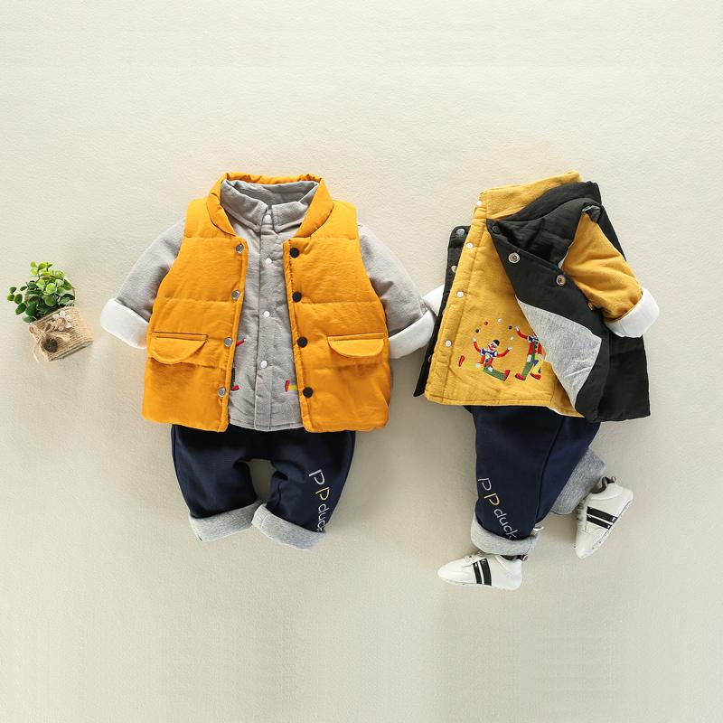 宝宝秋季洋气套装男0一1岁婴儿秋冬套装儿童小孩0-3月衣服加厚潮