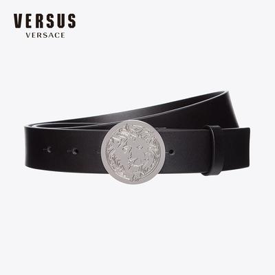 VersusVersus Versace范思哲FW18新品经典狮头搭扣男真皮腰带