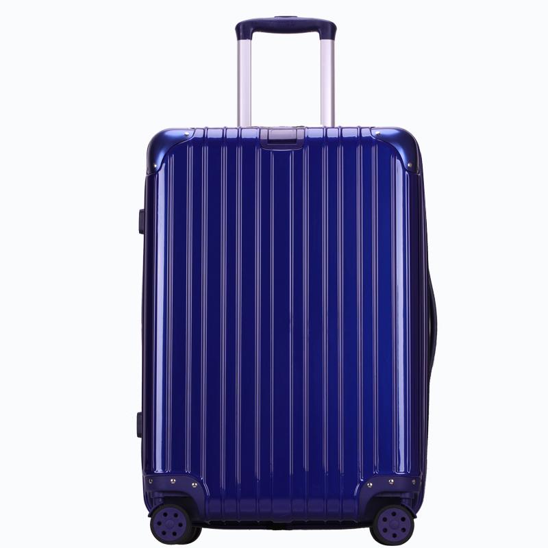 镜面行李箱女24寸26硬壳拉杆箱男学生旅行箱密码箱子皮箱20手拉箱