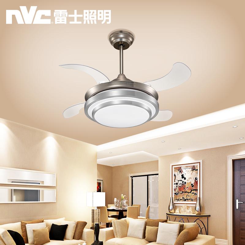 雷士照明隐形风扇灯吊扇灯餐厅现代简约餐厅客厅卧室家用调光吊灯