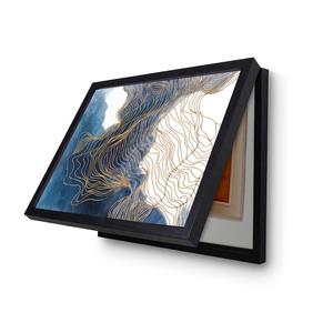 电表箱装饰画免打孔现代简约遮挡箱北欧创意客厅餐厅电闸箱装饰画
