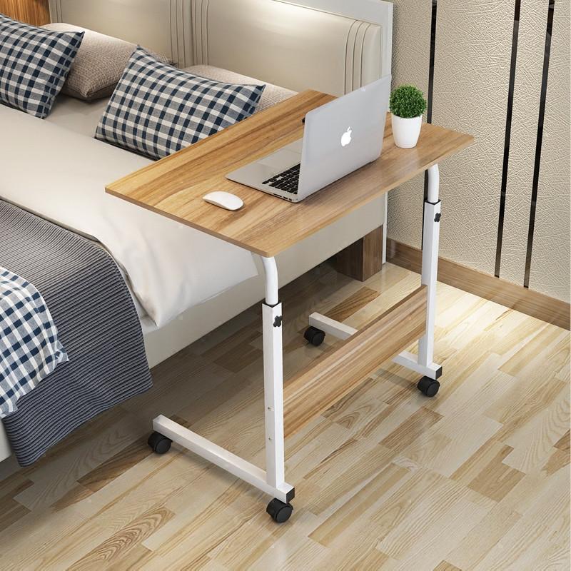 懒人床边笔记本电脑桌台式家用可移动简约书桌升降简易折叠小桌子