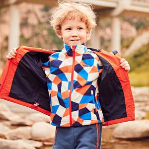 探路者小童套绒风雨衣 18秋冬户外男童防泼水套绒风雨衣QAWG93062