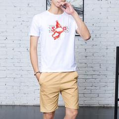 段郎传奇两件套男士短袖T恤夏装潮流休闲运动夏季潮牌短裤男套装