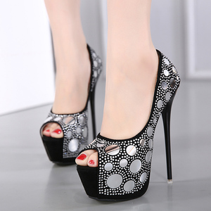 Sequins Shoes, Platform & peeptoe heels
