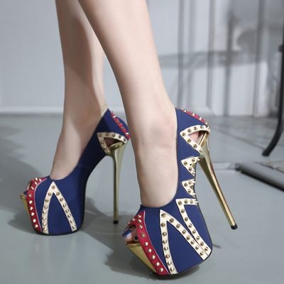 high heels foot super comfortable heavy metal wear not tired of shoes size 34-40's main photo