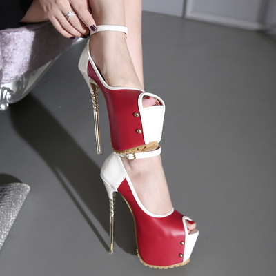 16CM fish mouth high heeled stiletto heels ankle shoes waterproof shoes size 34-40's main photo