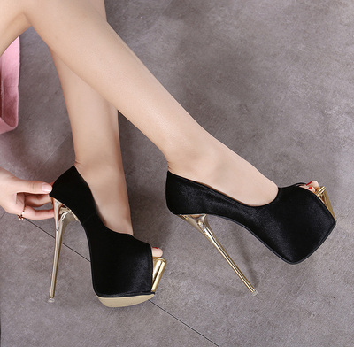 super fine high-heeled shoes with 16CM club 3 colors size 34-40's main photo