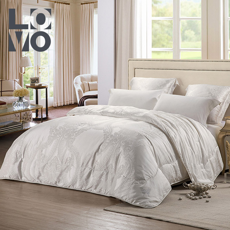 lovo家纺桑蚕丝夏被夏天床上用品大提花被子被芯空调被子薄被芯