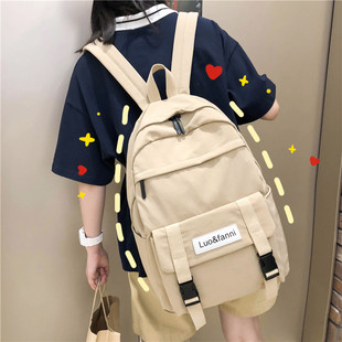 2019新款时尚ins风书包女韩版ulzzang高中大学生双肩包初中生背包